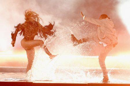 "Beyoncé and Kendrick Lamar perform ""Freedom""..."